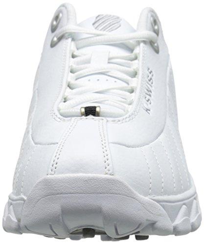 K-Swiss Men's ST329 CMF Training Shoe, White/Black/Silver, 11 M US
