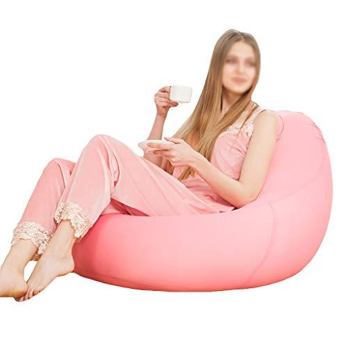 Chaises Longues canapé Chaise de Loisirs canapé Pouf Bean Bag Dossier Balcon Chambre à Coucher Leisure Portable 6 Couleurs (Couleur : F, Taille : 90 * 60 * 35cm)