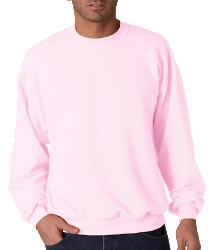 Jerzees mens 8 oz. 50/50 NuBlend Fleece Crew(562)-CLASSIC PINK-M