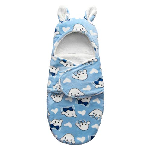 XIANGBEI Manta con capucha para recién nacidos, forro polar de coral suave, saco de dormir para bebé, antipatadas, para dormir de bebé, noches seguras