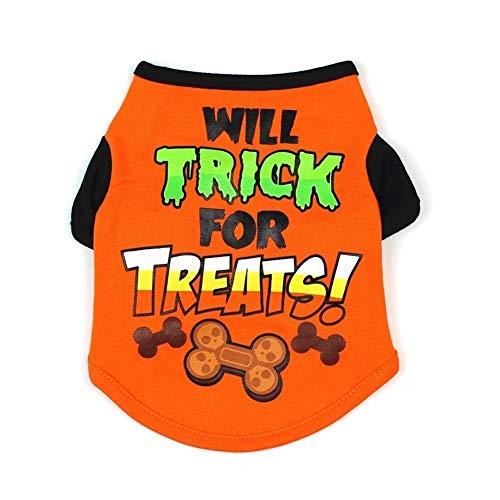 Aaren Pet T Shirt Shirt Cani di Halloween dell'animale Domestico del Cane Vestiti dell'animale Domestico di Halloween Vestiti Camicie del Costume di Halloween del Cane Vestiti per Animali Domestici