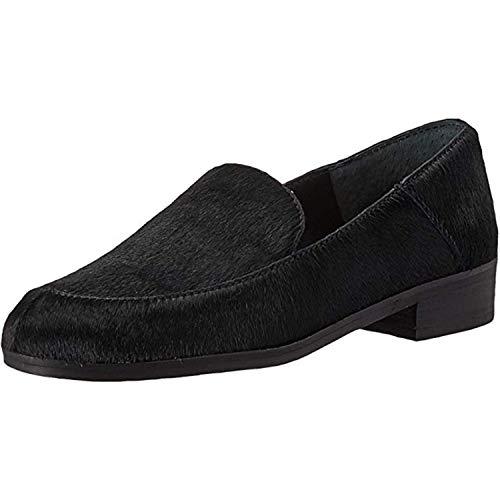 Lucky Brand Women's CAMDYN2 Loafer Flat, Haircalf Black, 8