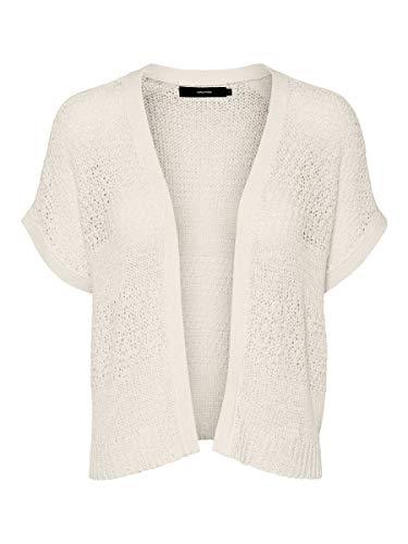 Vero Moda VMCERENA SS Open Cardigan Suéter, Abedul, XS para Mujer