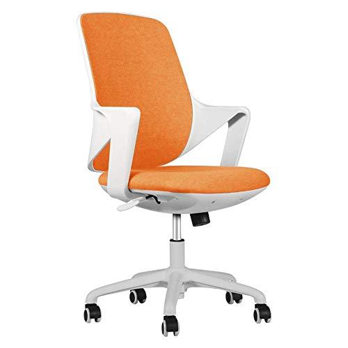 WSDSX Camera da Letto Sedia da Ufficio Moderna Poltrona Semplice Bracciolo Fisso Tessuto Impermeabile Elevazione Rotante Peso del Cuscinetto 200 kg 4 Colori opzionali (Colore: Arancio)