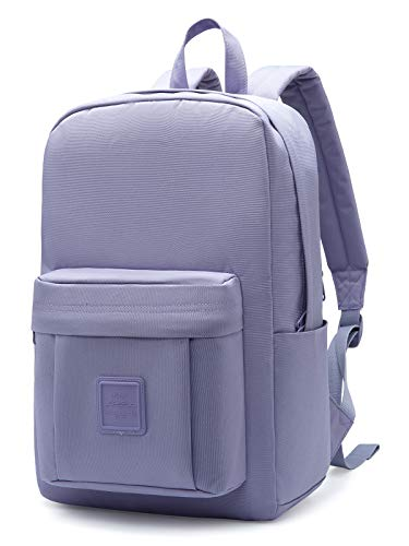 HotStyle 599s Simple Backpack, Classic Bookbag with Multi Pockets, Durable for School & Travel, Lavender