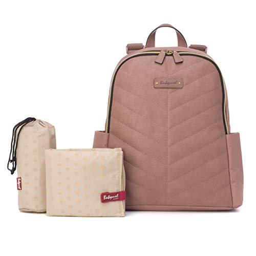 Babymel BM5789 Changing Bag Faux Leather Gabby Dusty Pink
