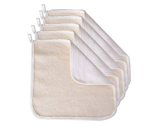 Paradiso 5pk Soft-Weave Wash Cloths, White