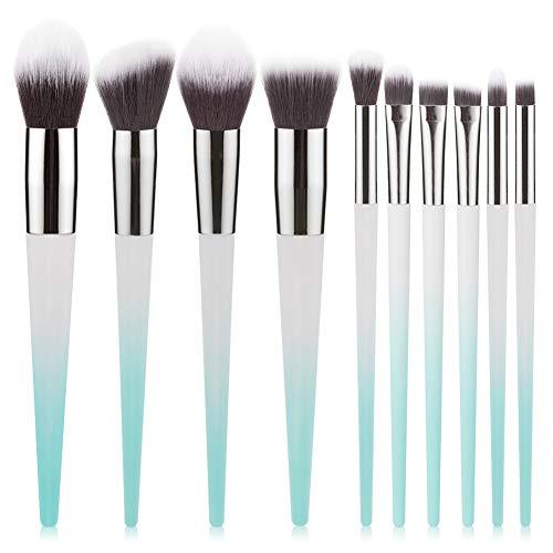 Pinceau De Maquillage De Dégradé De Couleur 10 Pcs Ombre Débutant Oeil Fibre Synthétique Fard À Joues Contour Brosse Beauté,1