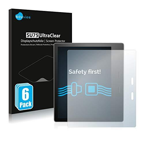 Savvies 6x Schermbeschermer compatibel met Amazon Kindle Oasis 2019 (10. Generatie) Screenprotector ultra transparant