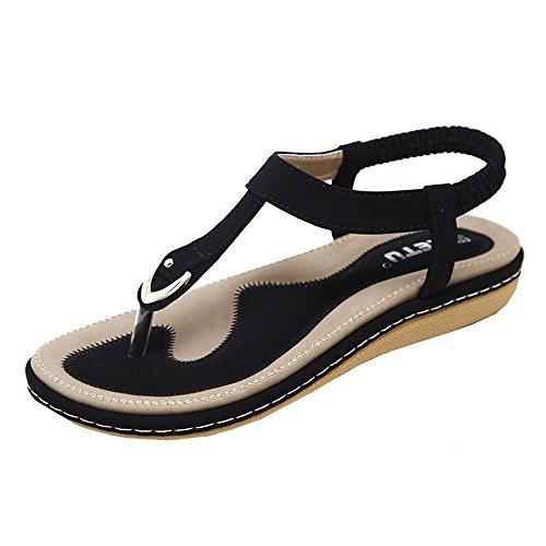 pequeño y compacto VJGOAL Bohemia Sandalias de playa para mujer Sandalias de gladiador Sandalias de playa Zapatos planos Zapatos casuales de moda…