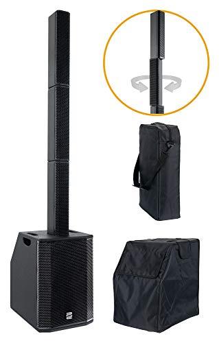 Pronomic Club 210LA Aktiv Line Array Säulenanlage Set - Linienstrahler-PA - 800 Watt - 2x 10