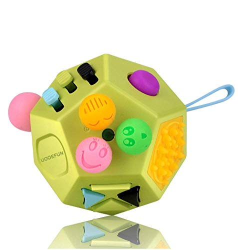 UOOEFUN Fidget Sensory Toy Cube,12 Side Fidget Cube Dice Dodecagon Relief Stress and Anxiety for...