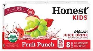 Honest Kids Organic Fruit Punch Juice Drink - 8pk/6 Fl Oz Boxes (Pack of 4)