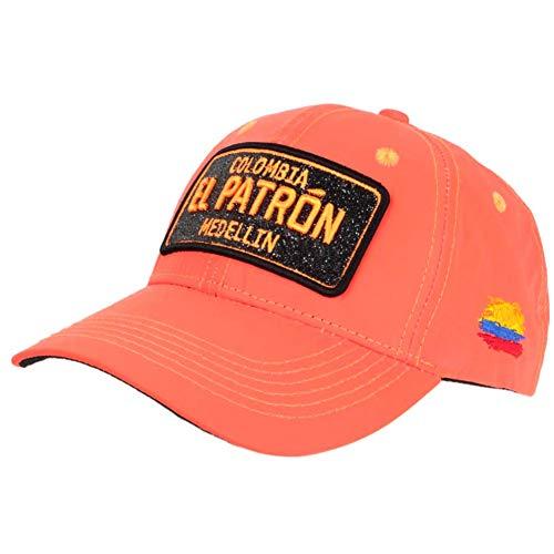 Gorra El Patrón Orange Fluo Strass Negro Medellin Colombia béisbol – Unisex naranja Talla única