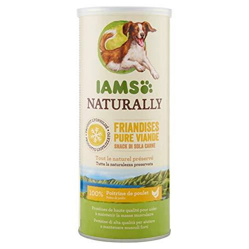 Iams Naturally - Snack per Cane Liofilizzati con 100% Pollo - 50 gr