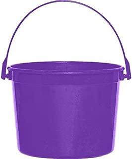 Plastic Bucket   New Purple   Party Accessory