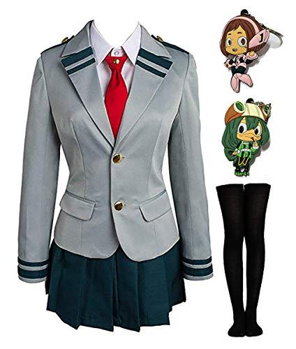 Mha Cosplay Bnha Cosplay My Hero Academia Ochaco Uraraka Cosplay Costume Ochako/Tsuyu Blazer Suit School Uniform