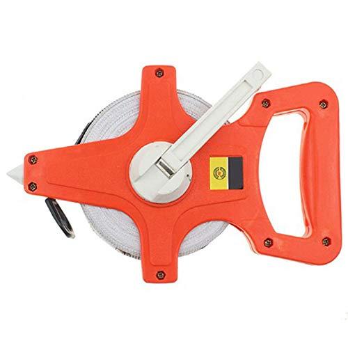 Kuinayouyi 1 Stück 50 M / 165Ft Meter ffnen Sie die Rolle Fiber Glas Maa Band Zoll Metrisch Scale Schlagfestem Kunststoff Mess Werkzeuge