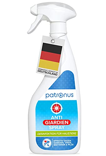 Patronus Giardien-Spray speziell für Hund & Katze 500ml - Hygiene-Spray für Haustiere als Desinfektionsmittel für Oberflächen gegen Viren, Bakterien & Pilze - hochwirksam & hautschonend