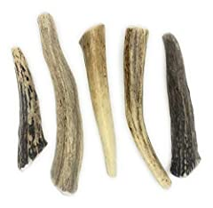 RECOMMENDED SIZE: Like all pets each antler is different, if your pet is an aggressive chewer we recommend going up at least 1 size. This Deer Antler Dog Chew – Small Treat – 5-Count Is Sized for Dogs 10–20 Lbs. Our Small Deer Antler Will Be Approxim...