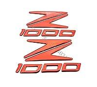 2PCSオートバイバイクは反射エンブレムバッジステッカーフェアリングTankForカワサキZ1000を上げる:レッド