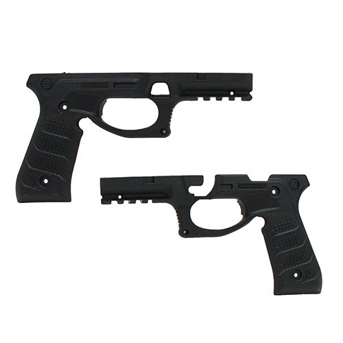 Recover Guancette e Slitta Picatinny BC2 Beretta Grip e Rail System per Beretta 92Fs, 98, M9 (Nero)