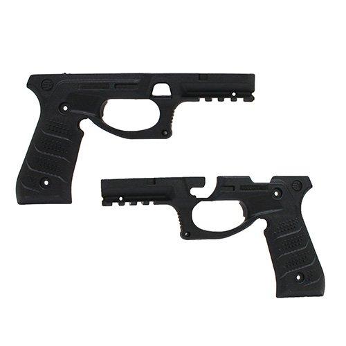 Recupere el Sistema de Agarre y riel BC2 Beretta para Beretta 92Fs, 98, M9, agarres y riel Picatinny (Black)
