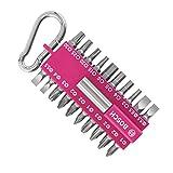 Bosch 21-tlgs. Schrauber Bit-Set pink (mit Universal-Bithalter, Karabiner, Zubehör für Akkuschrauber)