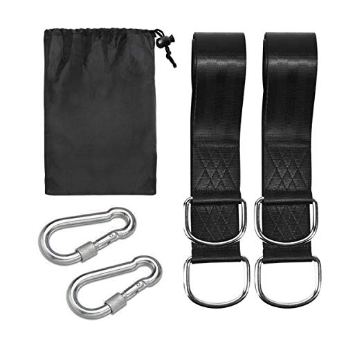 BAtech Tree Swings Hanging Straps Kit Holds 2000 lbs 5ft Strap with Safer Locks Snap Hooks D-rings Polyester for Hammocks Pack of 2