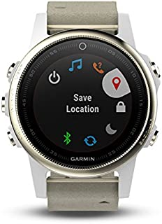 Garmin Fenix 5S Champagne With Leather Band, Sapphire