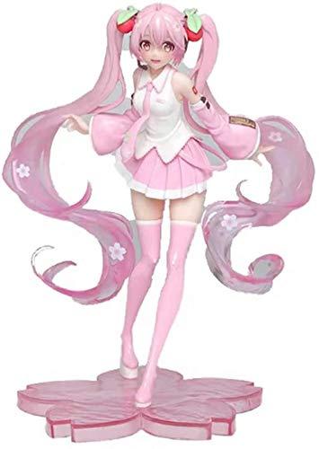 Bck 23 cm-Figurine Decoración Adornos Coleccionistas Juguete Hatsune Miku Pink Anime Figura Animaciones Modelo de Personaje Juguete Regalo