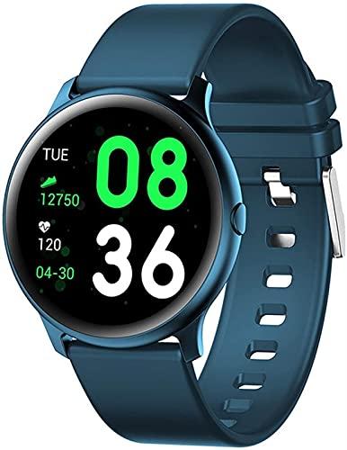 TCHENG Ladies Smart Watch-Womens Relojes Business Casual Smart Watch, Cuerpo Ultra Delgado, Pulsera Elegante y Colorida Bluetooth, (Color: Azul) (Color : Blue)