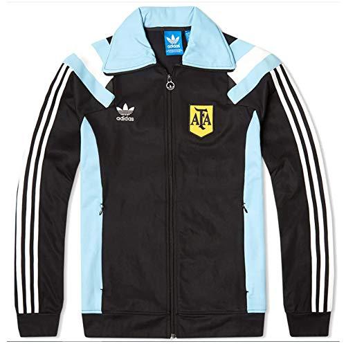 Adidas ARGENTINA TT AFA Schwarz Blau Herren Argentinien Trainingjacke Neu