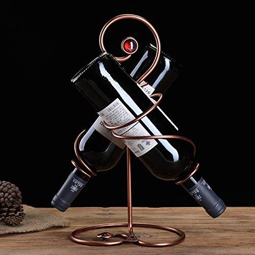 YTQ Estante para Vinos - Sostiene Botellas De Tamaño Estándar - Estante De Almacenamiento De Encimera De Metal - Soporte De Exhibición De Mesa Independiente - Soporte para Vino Que Ahorra E(Color:C)