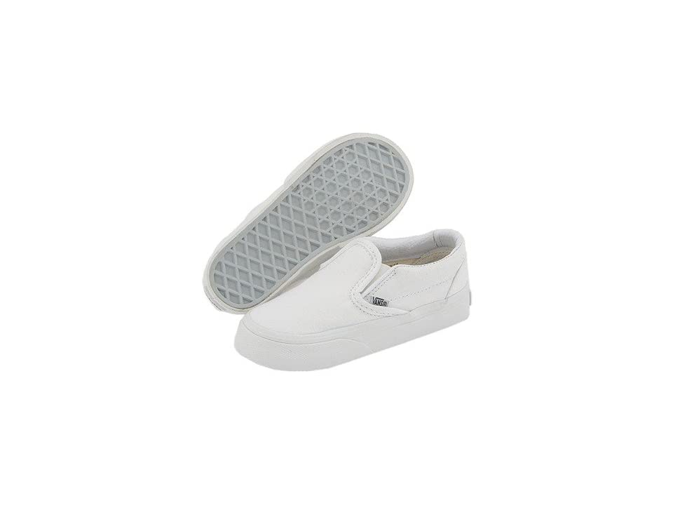 Vans Kids Classic Slip-On Core (Toddler) (True White) Kids Shoes