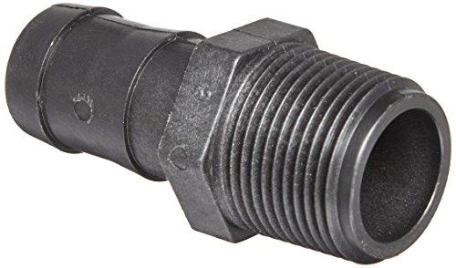 Banjo HB100 Polypropylene Hose Fitting, Adapter, 1 NPT Male x 1 Barbed