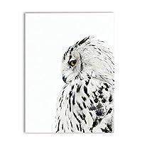 スカンジナビアの動物フクロウリアルな絵画キャンバスアートプリント壁の写真、フクロウのポスターキャンバス絵画現代の壁の装飾60x90cmフレームレス