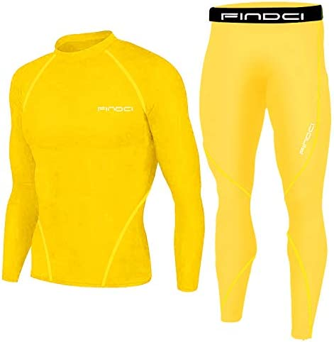 Yellow running tights