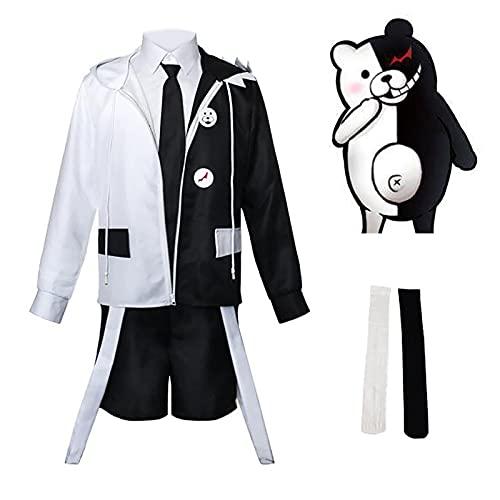 Anime Cosplay Costume Danganronpa Monokuma Cosplay Halloween Fiesta Fantasa Traje Completo Set Cosplay Disfraz Cosplay High School Uniform Fiesta