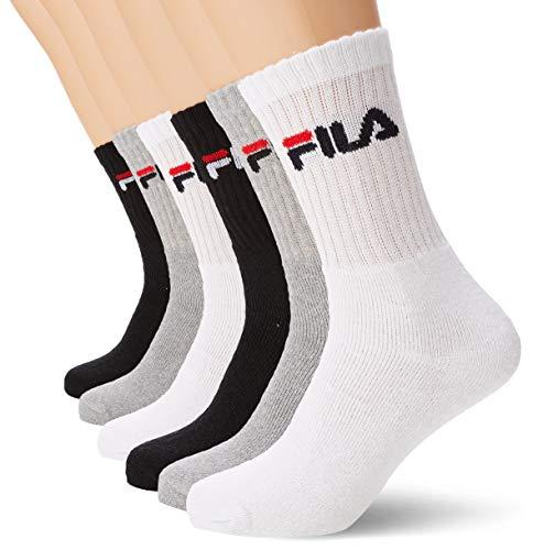 Fila FILA/AM/TNX6 Chaussettes de sport Homme, Multicolore, 39/42 (lot de 6)