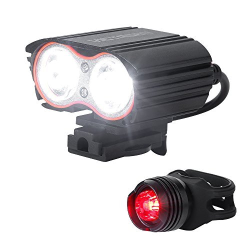 victagen Waterproof, USB-rechargeable Bike Front Light,Super Bright...