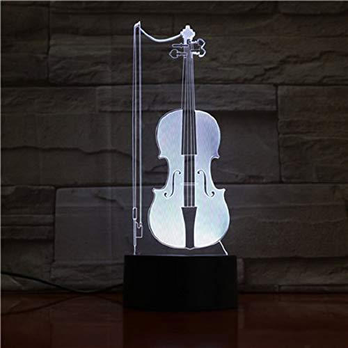 Lamp met optische illusie viool 3D van het nachtlamp-led, 7 kleuren, de decoratieve lamp van de noten-bureau-lamp-woonkamer-slaapkamer-kinderdagverblijf veranderen.