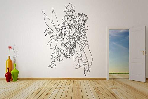chgznb Pegatinas de pared Pegatina de vinilo de pared Calcomanía Anime Anime Manga Art Online Sword
