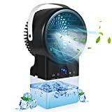 YouGottaIt Portable Air Conditioner, Rechargebable Evaporative Air Cooler with Humidifier, Timing & Oscillation Function, Personal Air Conditioner Fan for Small Room Office Camping Car Bedroom