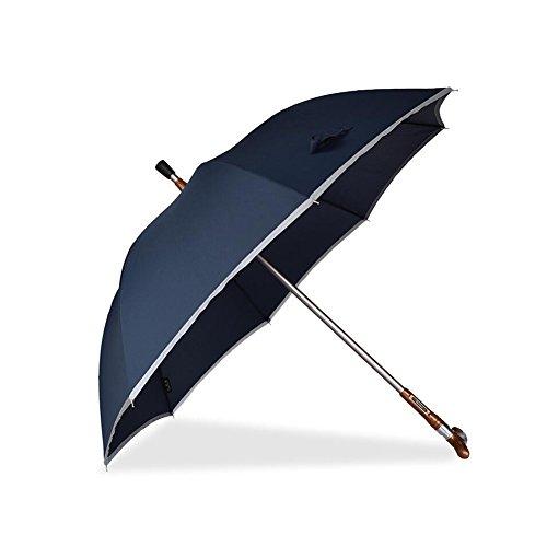 cjc Regenschirm Krücke Alter Mann gewidmet Langstielig Sonnig Regen Dual-Use rutschfest Bergsteiger Multifunktion Gehstock Sonnenschirme (Farbe : 1)