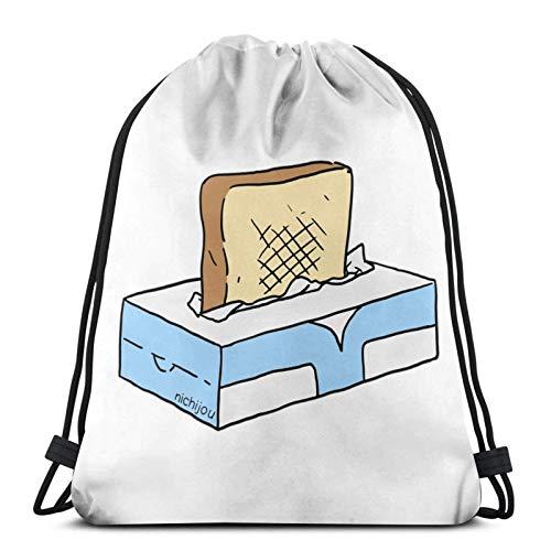 Anime Toast In Tissue Box Csic Drstring Bag Sport Fitn Bag Reisetasche Geschenktüte