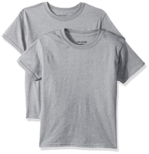 Gildan Kids DryBlend Youth T-Shirt, 2-Pack, Sport Grey, Medium