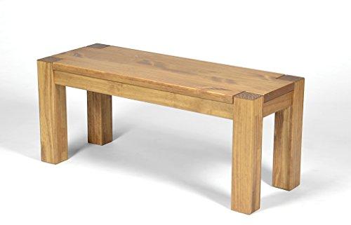 Naturholzmöbel Seidel Sitzbank Rio Bonito 80x38cm, Bank Massivholz Pinie, geölt und gewachst, Farbton Honig hell, Optional: passende Tische