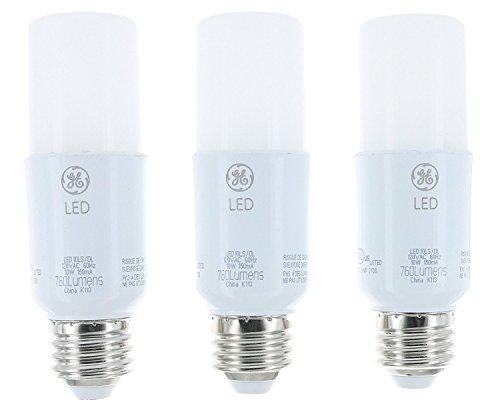 GE Lighting 79369 LED Bright Stik 10-watt (60-Watt Replacement), 760-Lumen Light Bulb with Medium Base, Daylight, 1 Box (3 Bulbs Total)