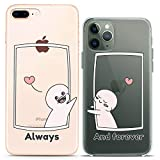 Cavka Matching Couple Cases Replacement for iPhone 12 Pro 5G Mini 11 Xs Max 6s 8 Plus 7 Xr 10 SE X 5 Cartoon Slim fit Nice Love Clear Cover Always and Forever Design Soft Flexible Cute Print BFF Funny